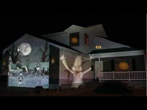 Extreme Outdoor Halloween Decorating: Projection Animation