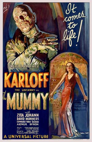 The Mummy 1932 Movie Poster, One Of The Most Valuable