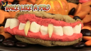 Dracula's Dentures Halloween Cookie Recipe