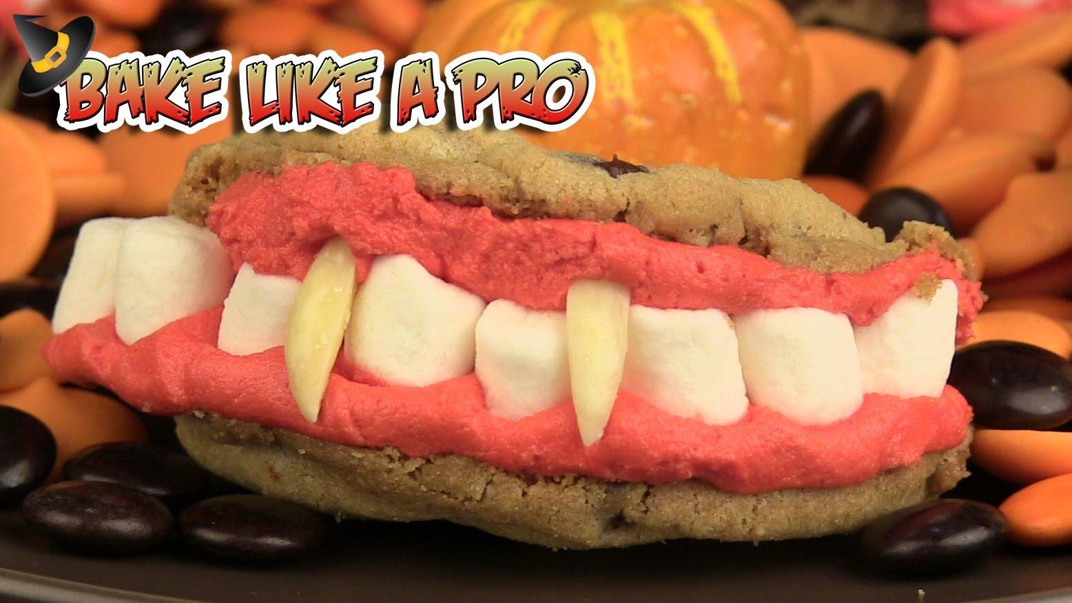 Dracula's Dentures Halloween Cookie Recipe